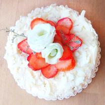 kokos-truskawka tort bez cukru sugar free