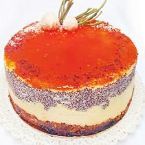 swieta tort vege makowo jaglany sugar free